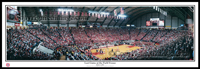 Maryland Last Game at the Field House Framed Panoramic Print