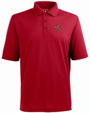 Maryland Mens Pique Xtra Lite Polo Shirt (Team Color: Red)