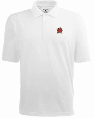 Maryland Mens Pique Xtra Lite Polo Shirt (Color: White)