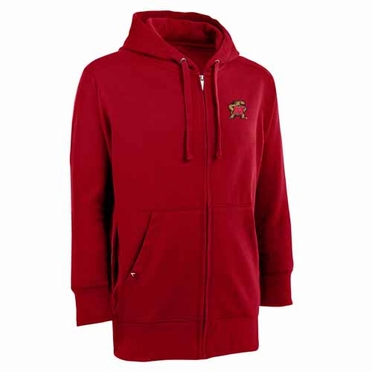 Maryland Mens Signature Full Zip Hooded Sweatshirt (Team Color: Red)