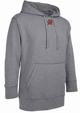 Maryland Mens Signature Hooded Sweatshirt (Color: Gray)