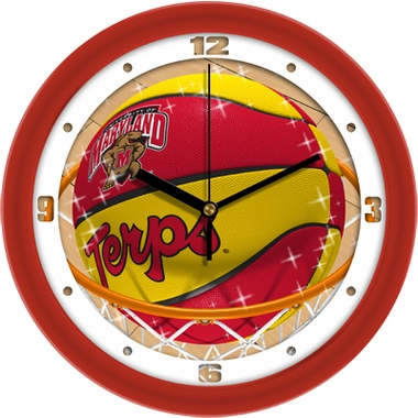 Maryland Slam Dunk Wall Clock
