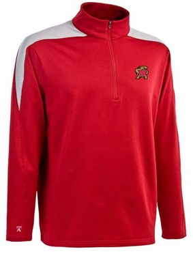 Maryland Mens Succeed 1/4 Zip Performance Pullover (Team Color: Red)