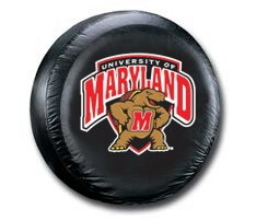 Maryland Terrapins Black Tire Cover (Small Size)