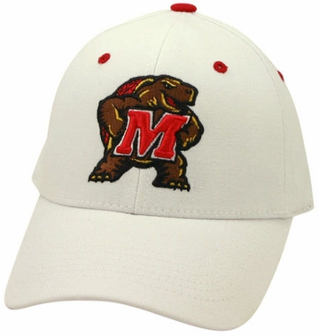 Maryland White Premium FlexFit Baseball Hat