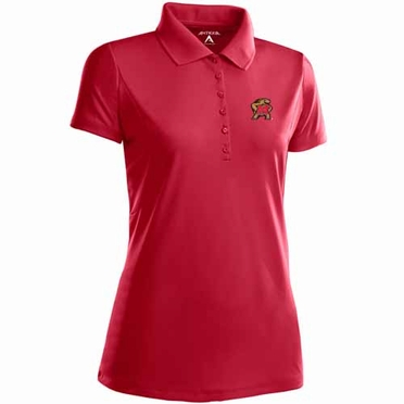 Maryland Womens Pique Xtra Lite Polo Shirt (Team Color: Red)