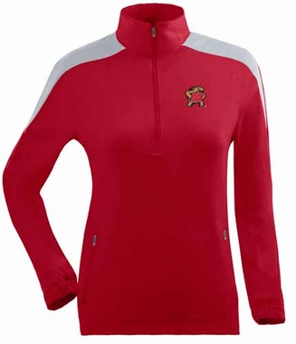 Maryland Womens Succeed 1/4 Zip Performance Pullover (Team Color: Red)