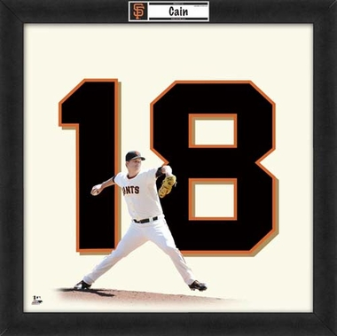 "Matt Cain, Giants UNIFRAME 20"" x 20"""