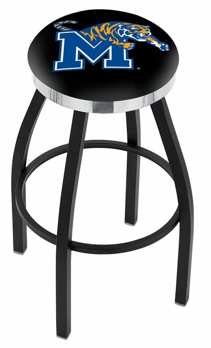 Memphis 25 Inch L8b2c Black Bar Stool