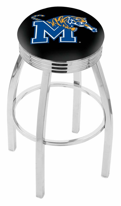 Memphis 30 Inch L8c3c Chrome Bar Stool