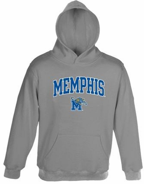 Memphis Embroidered Hooded Sweatshirt (Grey)