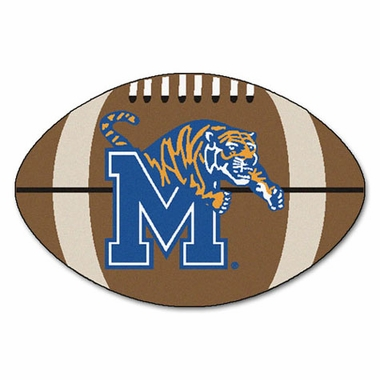 Memphis Football Shaped Rug