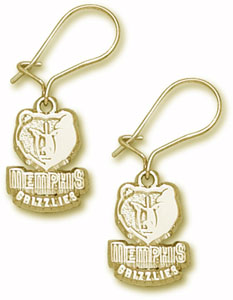 Memphis Grizzlies 14K Gold Post or Dangle Earrings