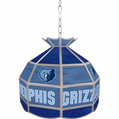 Memphis Grizzlies 16 Inch Diameter Stained Glass Pub Light