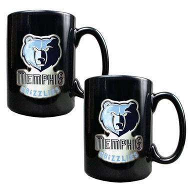 Memphis Grizzlies 2 Piece Coffee Mug Set