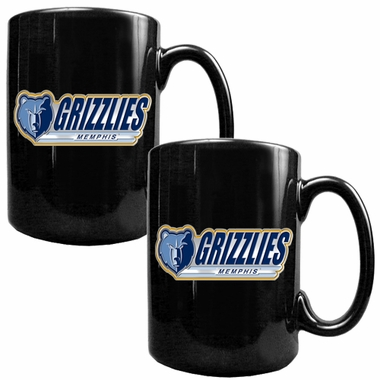 Memphis Grizzlies 2 Piece Coffee Mug Set (Wordmark)