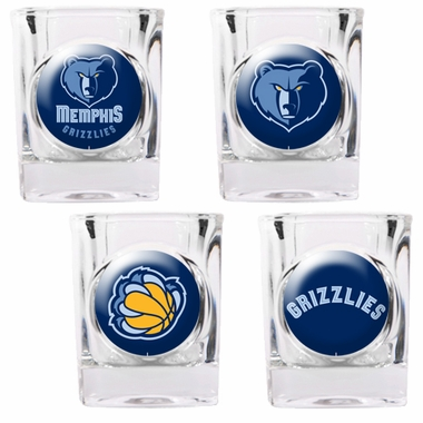 Memphis Grizzlies 4 Piece Assorted Shot Glass Set