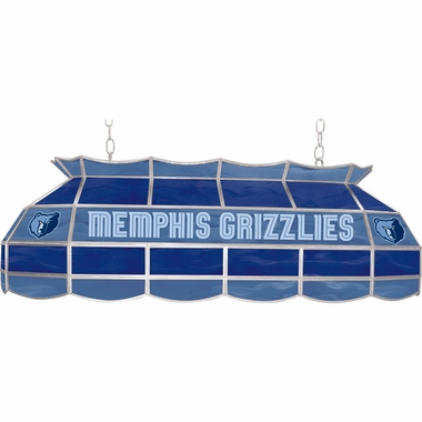 Memphis Grizzlies 40 Inch Rectangular Stained Glass Billiard Light