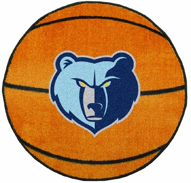 Memphis Grizzlies Basketball Shaped Rug