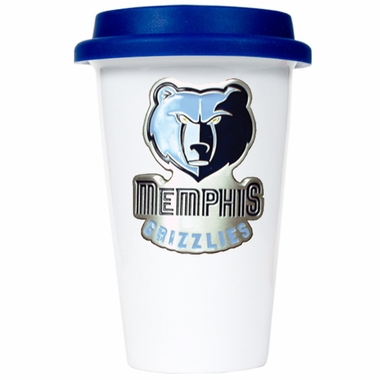 Memphis Grizzlies Ceramic Travel Cup (Team Color Lid)