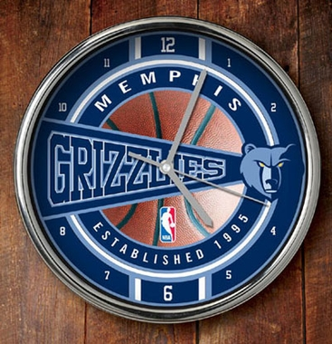 Memphis Grizzlies Chrome Clock