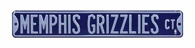 Memphis Grizzlies Ct Street Sign