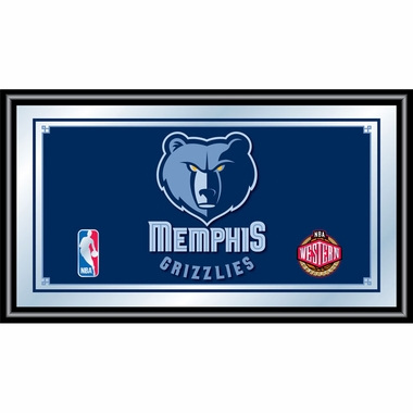 Memphis Grizzlies Framed Logo Bar Mirror