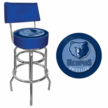Memphis Grizzlies Padded Bar Stool with Back
