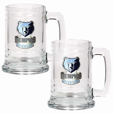 Memphis Grizzlies Set of 2 15 oz. Tankards