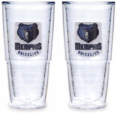 Memphis Grizzlies Set of TWO 24 oz. Tervis Tumblers