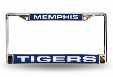 Memphis Laser Etched Chrome License Plate Frame