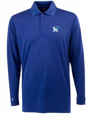Memphis Mens Long Sleeve Polo Shirt (Team Color: Royal)