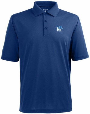Memphis Mens Pique Xtra Lite Polo Shirt (Color: Royal)