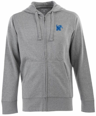 Memphis Mens Signature Full Zip Hooded Sweatshirt (Color: Gray)