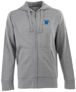 Memphis Mens Signature Full Zip Hooded Sweatshirt (Color: Gray) - Small