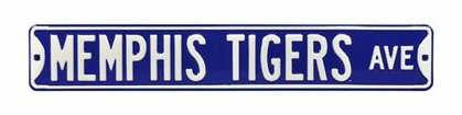 Memphis Tigers Ave Street Sign