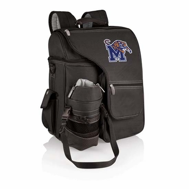 Memphis Turismo Embroidered Backpack (Black)