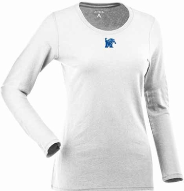 Memphis Womens Relax Long Sleeve Tee (Color: White)