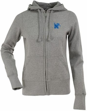 Memphis Womens Zip Front Hoody Sweatshirt (Color: Gray)