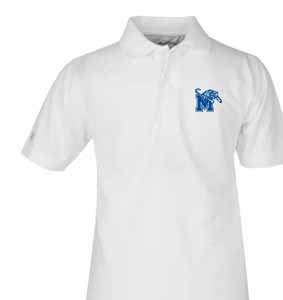 Memphis YOUTH Unisex Pique Polo Shirt (Color: White) - Large