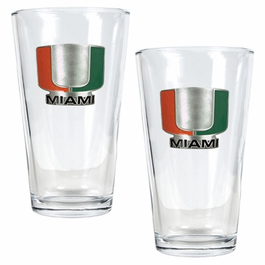 Miami 2 Piece Pint Glass Set