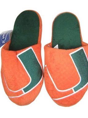 Miami 2011 Big Logo Hard Sole Slippers (Two Tone)