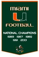 "Miami 24""x36"" Dynasty Wool Banner"