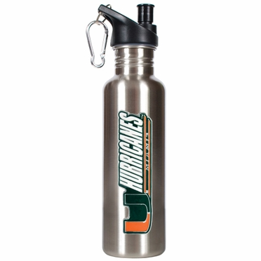 Miami 26oz Stainless Steel Water Bottle (Silver)