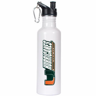 Miami 26oz Stainless Steel Water Bottle (White)