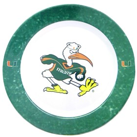 Miami Hurricanes 4 Piece Dinner Plate Set