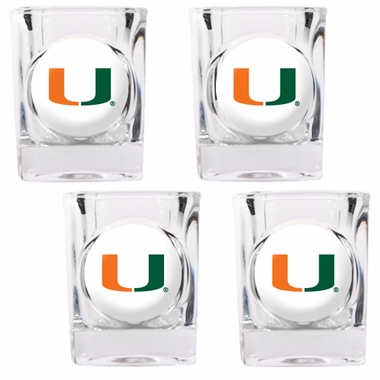 Miami 4 Piece Shot Glass Set
