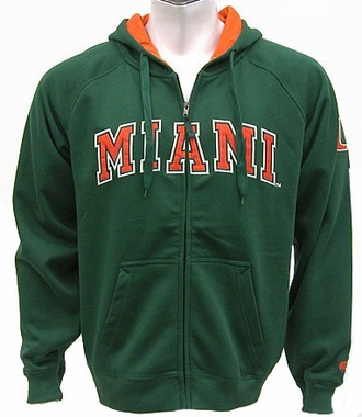 Miami Automatic Full Zip Hooded Sweatshirt (Team Color)