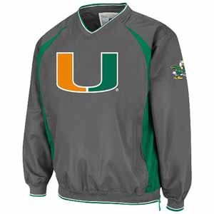 Miami Charcoal Hardball Pullover Jacket - Large