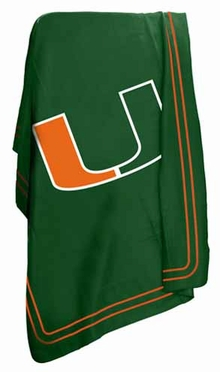 Miami Classic Fleece Throw Blanket